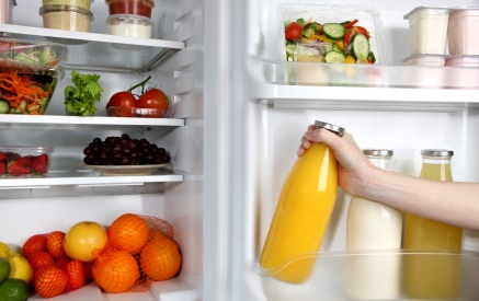 iStock Refrigerator Open Orange Juice XSmall How to Save Money While Grocery Shopping