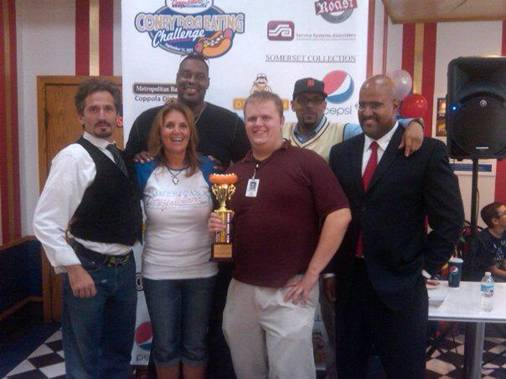 He Came, He Saw, He Conquered Coney Dogs – Congrats Larry!