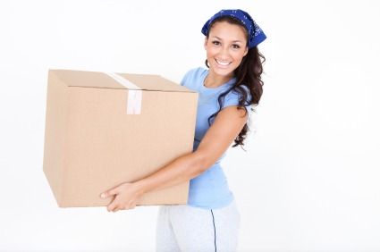 Young woman moving box Parents Helping Kids Afford Homeownership