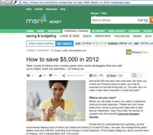 MSN Money 300x266 Money Saving Tips For 2012
