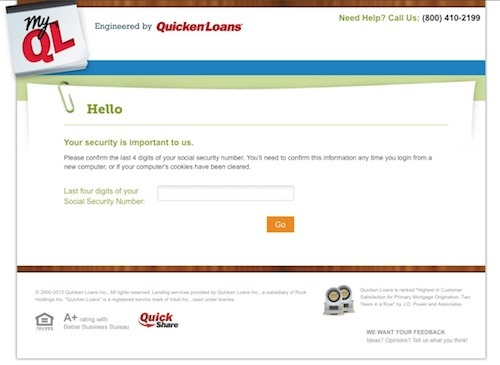 MyQL Security Confirmation The Quicken Loans Mortgage Process Gets Even Better: Introducing the New MyQL!