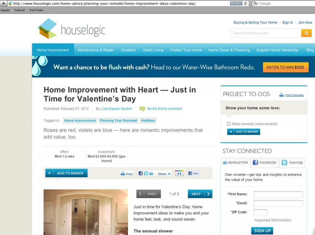 Houselogic: Home Improvement with Heart -- Just in Time for Valentine's Day - Quicken Loans Zing Blog