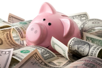 Piggy bank and money The $5 Savings Plan