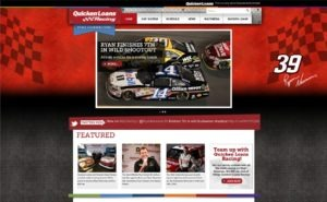 RacingSiteScreenShot 300x185 Quicken Loans Launches New Racing Site