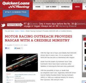 NASCAR Religion - Quicken Loans Zing Blog
