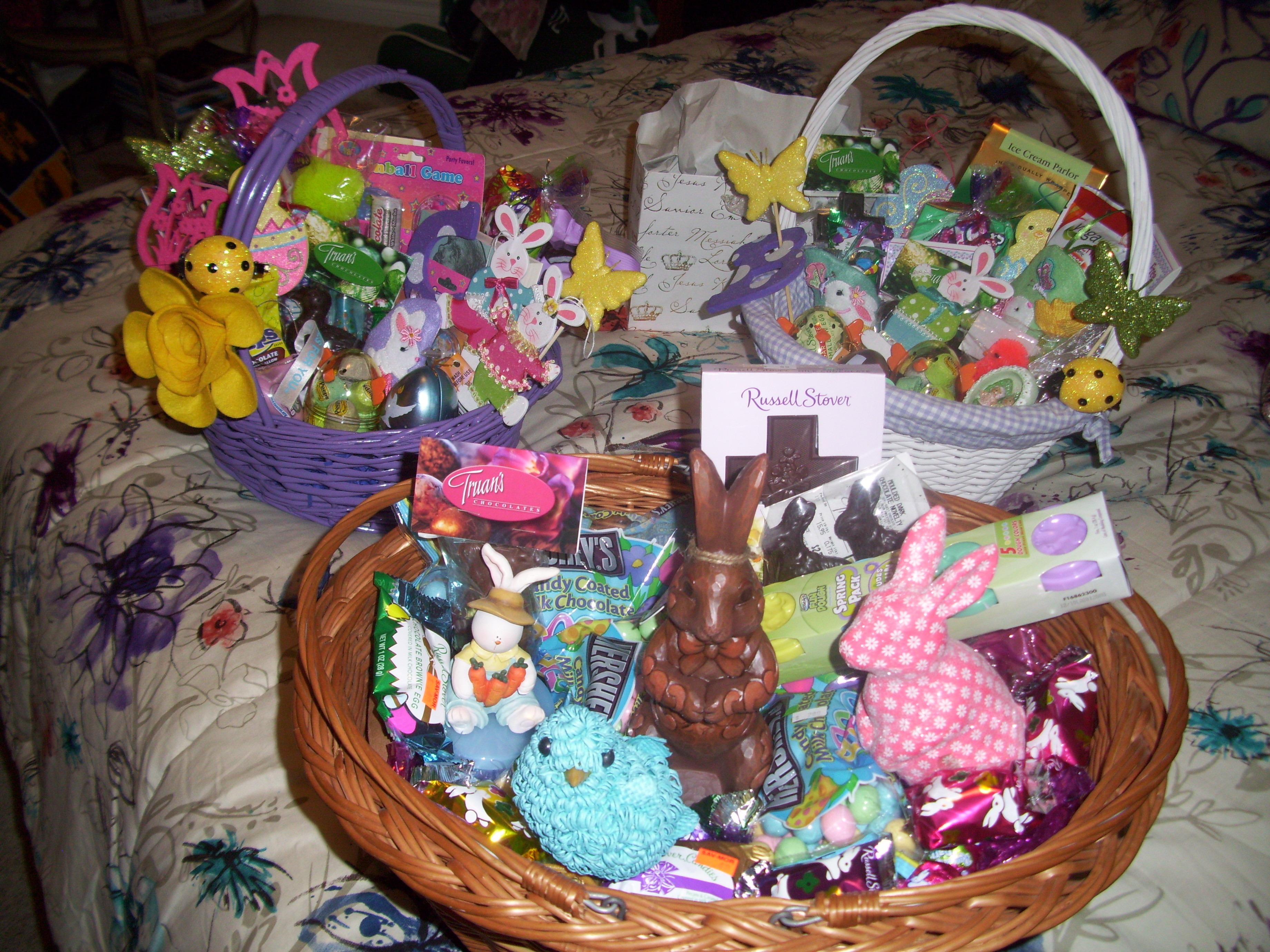 Filled Easter Baskets Easter Baskets on a Budget