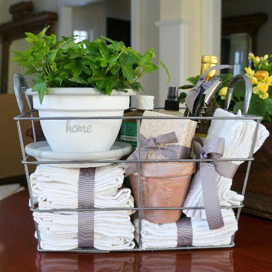 Housewarming Gift Basket Stuff With Bathroom Cleaning Supplies