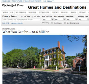 NY Times Million Dollar Homes 300x284 How Much Home Can You Get for $1.6 Million?