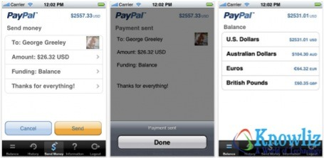 Paypal 5 Essential Money Management Apps for iPhone, iPad and Android