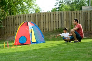 fathersonhorseshoes 300x198 DIY: Backyard Games