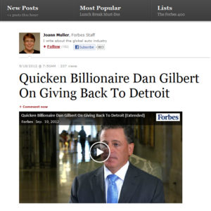 Dan Gilbert Gives Back to Detroit 300x300 From Forbes: Dan Gilbert on Giving Back to Detroit