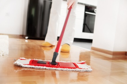 iStock cleaning mop hardwood floor Caring For Hardwood Floors
