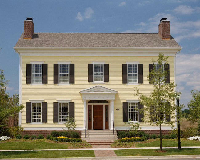 Georgian-style colonial house