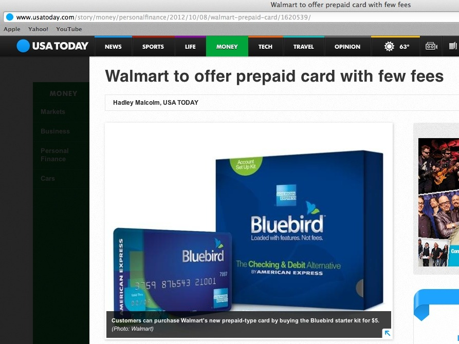 Walmart Prepaid Card Wal Mart and American Express Announce Prepaid Card