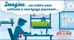 skipayaerheader 300x164 Skip A Year Sweepstakes Mortgage Payment and Debt Infographic
