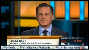 Squawk Box Dan Gilbert 300x171 Quicken Loans Chairman Dan Gilbert Hosts CNBCs Squawk Box