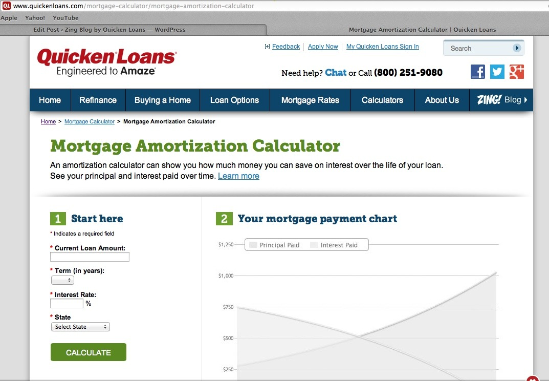 Mortgage Amortization Calculator   Quicken Loans Zing Blog