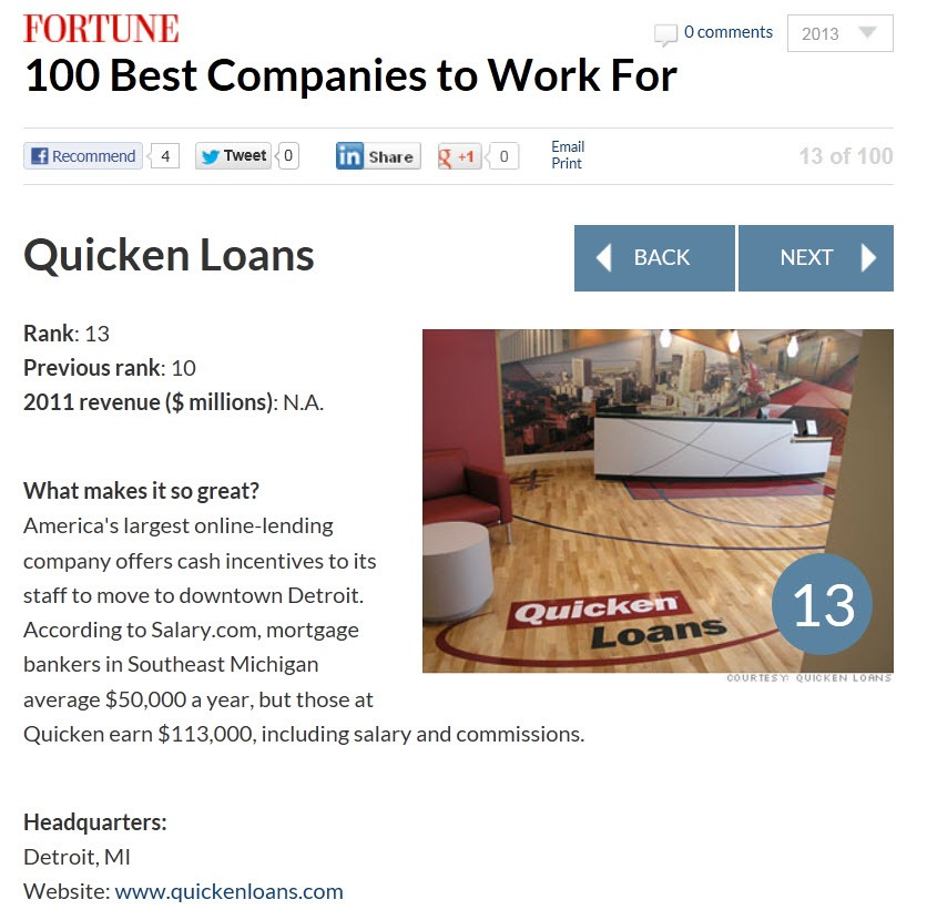 Quicken Loans Fortune Magazine