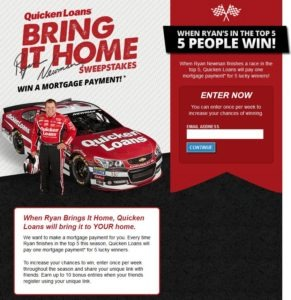 Enter The Quicken Loans Bring It Home Sweepstakes Today! - Zing Blog