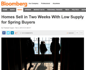 bloomberg home prices 300x242 Are Record Low Mortgage Rates Going, Going, Gone?