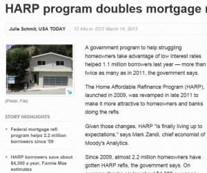 usatoday 300x250 HARP Refinance Program Doubles in 2012