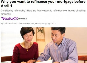 yahoohomes1 300x218 Four Reasons to Refinance Now!