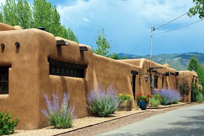 Traditional Pueblo-style house