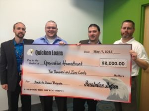 Quicken Loans Zing Blog - Operation Homefront Back to School Brigade