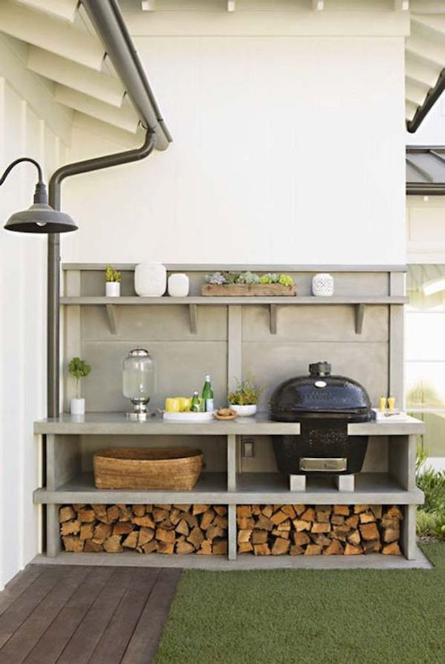 Outdoor kitchen organization