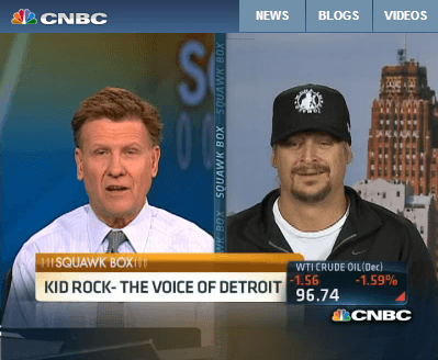 Detroit's Second Act - Dan Gilbert and Kid Rock on CNBC's Squawk Box - Quicken Loans Zing Blog
