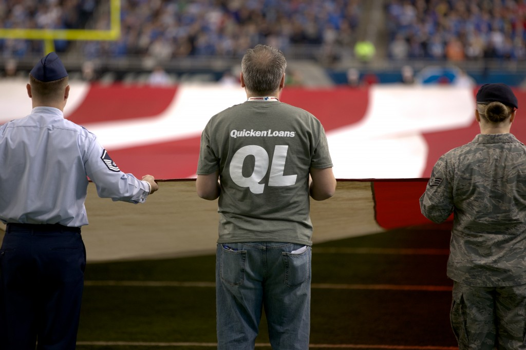 Quicken Loans and the Detroit Lions Come Together to Honor Veterans - Quicken Loans Zing Blog