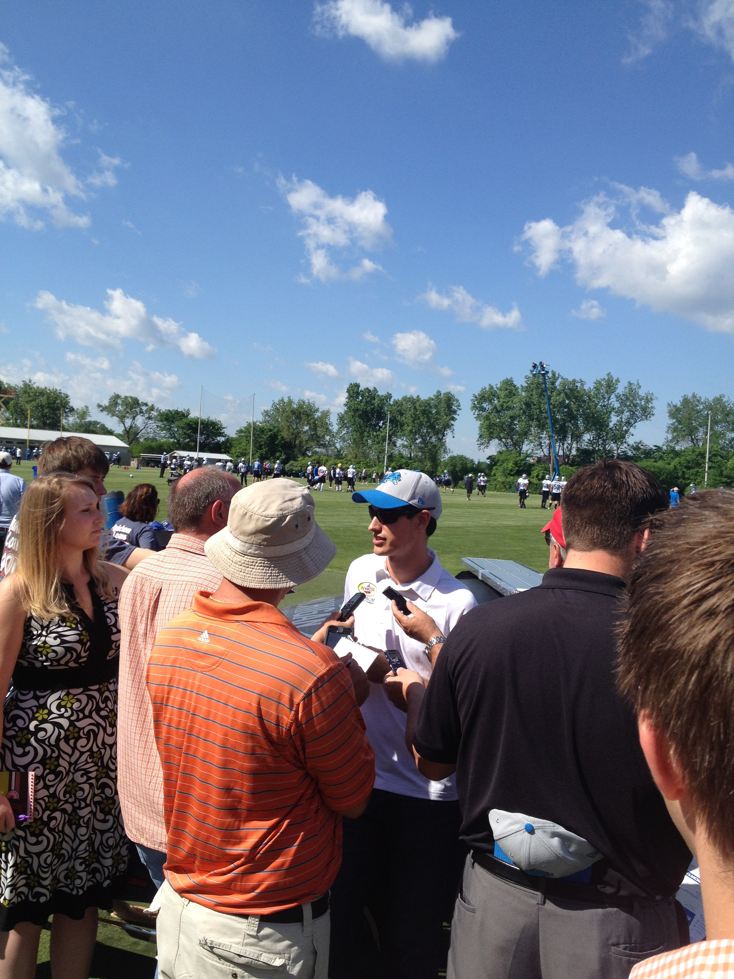 Joey Logano Visits Detroit Lions to Promote Quicken Loans 400 at MIS