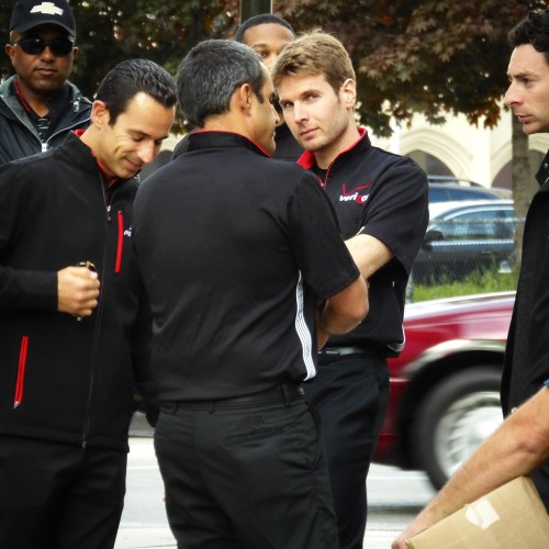 Helio Castroneves, Juan Pablo Montoya, Will Power And Simon Pagenaud Get Ready To Meet With Fans.