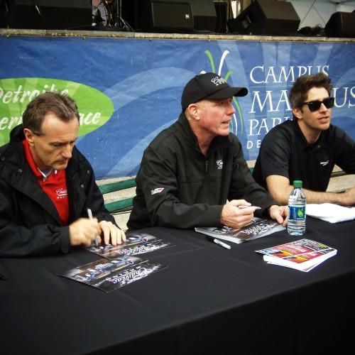 INDYCAR Stars Sign Autographs For Fans.
