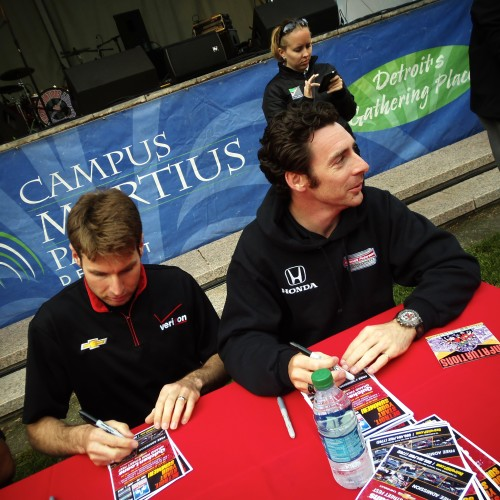 INDYCAR Stars Sign Autographs For Fans.