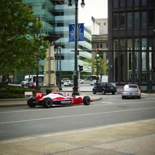 Fans Could Take A Ride In An Indy Car Around Campus Martius.