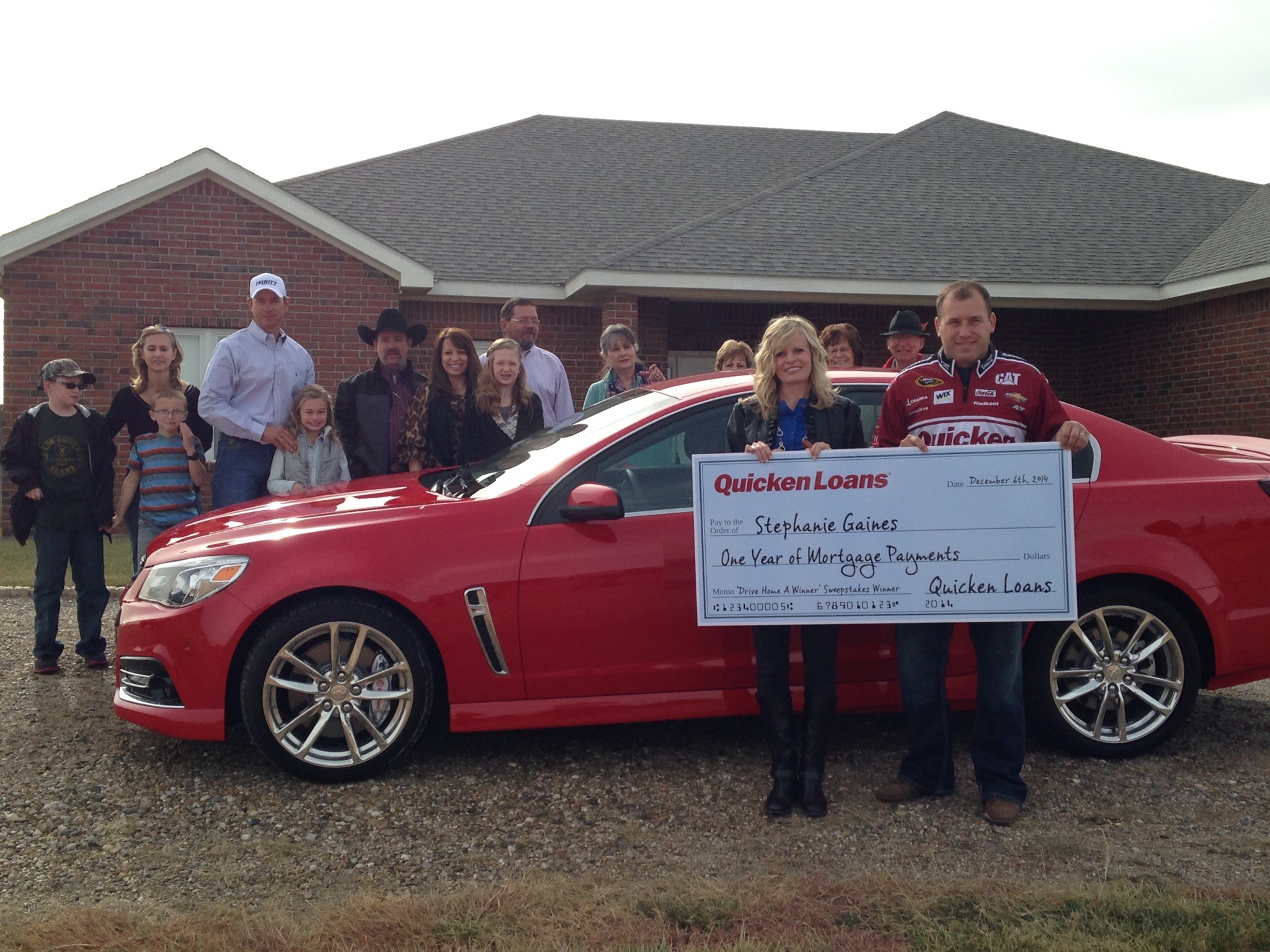 Drive Home a Winner Sweepstakes Winner Surprised by Ryan Newman - Quicken Loans Zing Blog