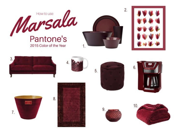 Marsala: 10 Ways to Use Pantone's 2015 Color of the Year in Your Home - Quicken Loans Zing Blog