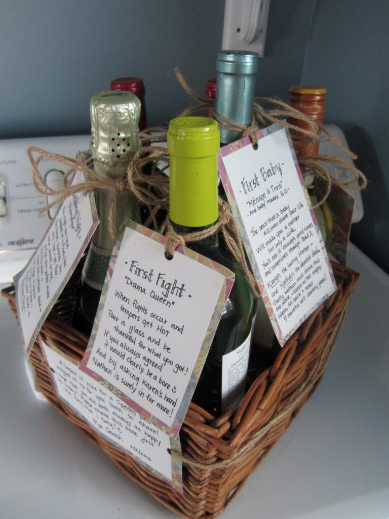 Bridal Shower Wine Gift Basket Ideas : Thoughtful Wedding Shower Gifts that Might Not Be on the Registry ...