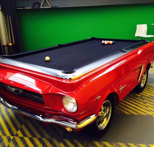 Ford Mustang Pool Table At QL Tech Center