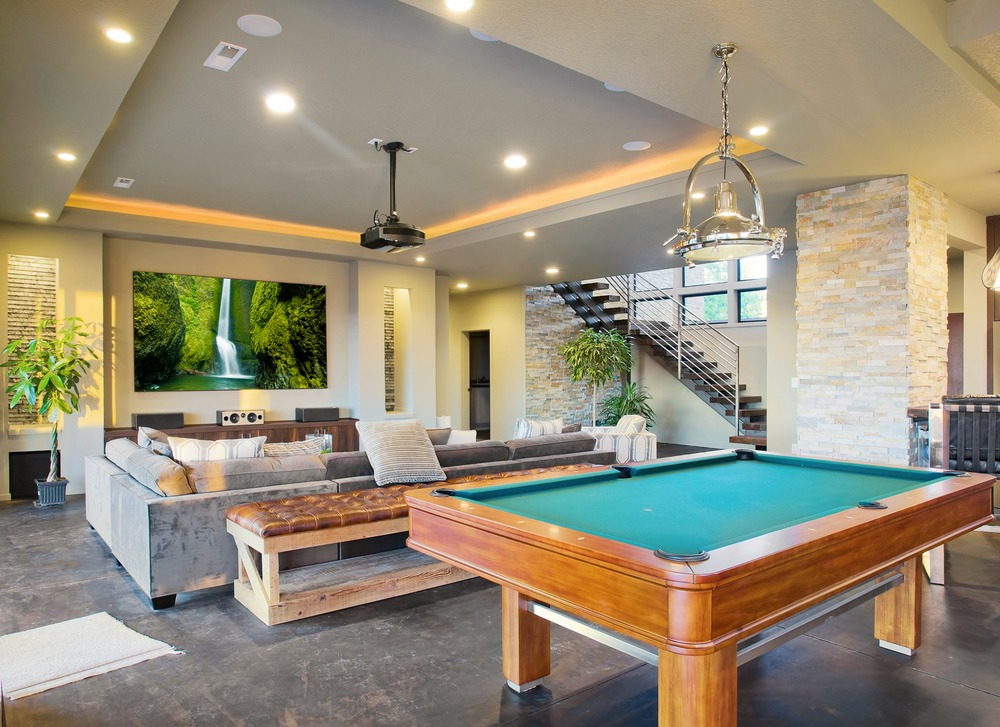 Modern Man Caves : Remodel and renovate your basement possibilities below
