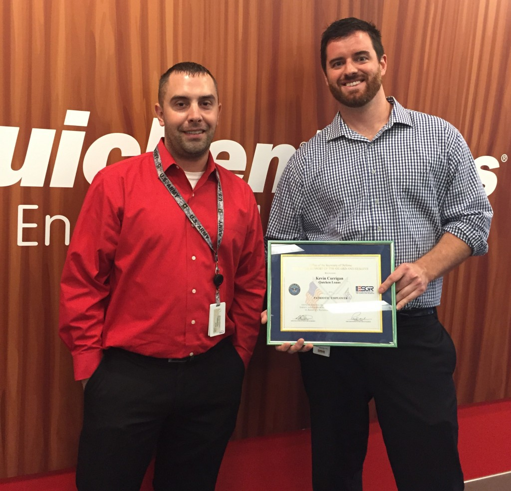 Quicken Loans Mortgage Banker Awarded Service Member Patriot Award - Quicken Loans Zing Blog