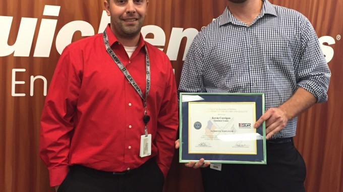 Quicken Loans Mortgage Banker Awarded Service Member Patriot Award