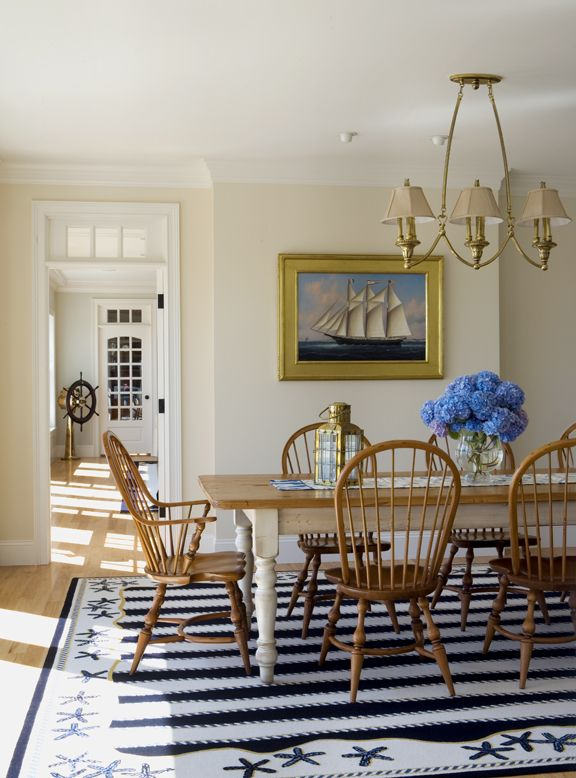 Add some summer to your space with nautical d cor zing for New england dining room ideas