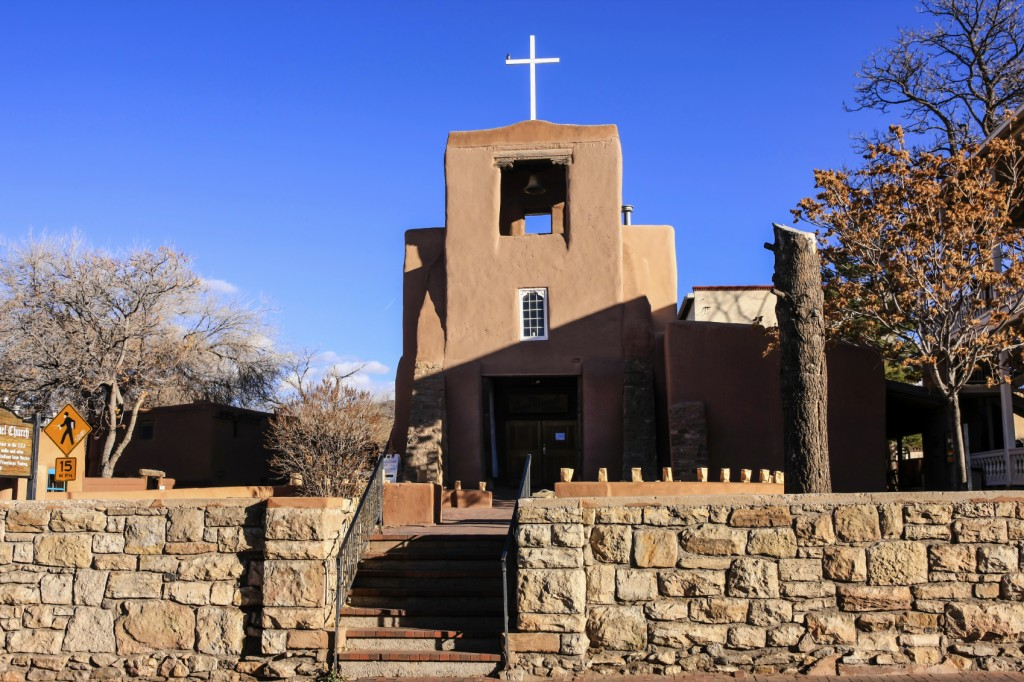 The San Miguel Mission in Santa Fe NM