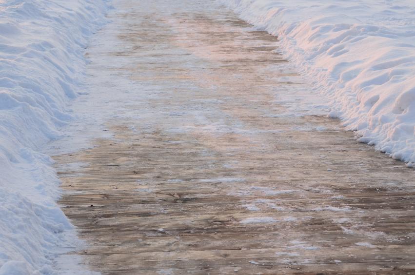icey sidewalk