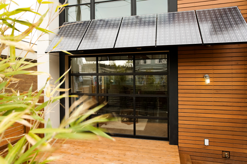 energy efficient house with solar panels