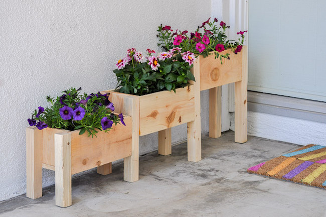 DIY three tiered planter box