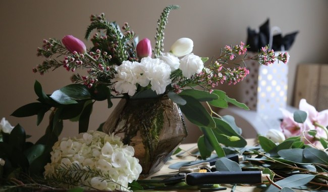 How To Turn A Grocery Store Bouquet Into A Floral Arrangement For Your Home
