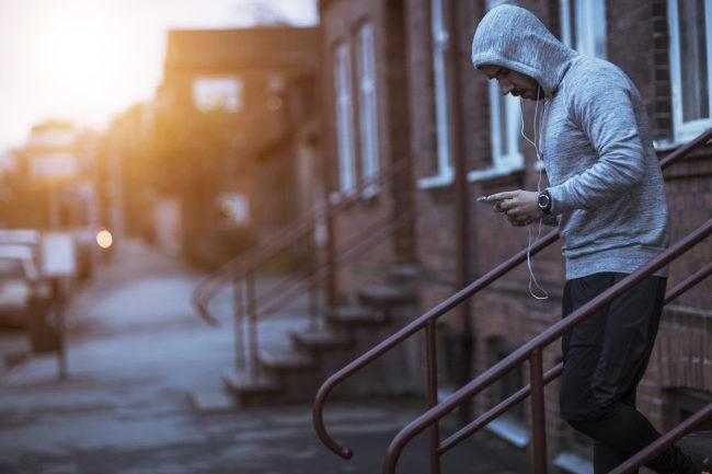 man going on his morning jog